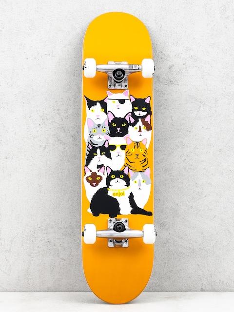 Skateboard Enjoi Cat Collage V2 (orange)