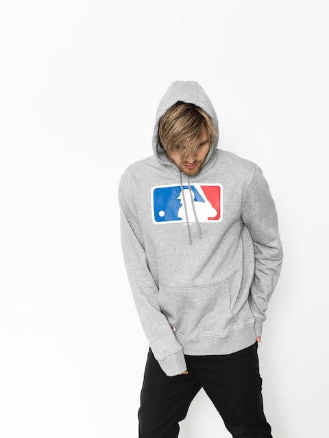 Mikina s kapucňou New Era Nos MLB Logo HD (grey heather)