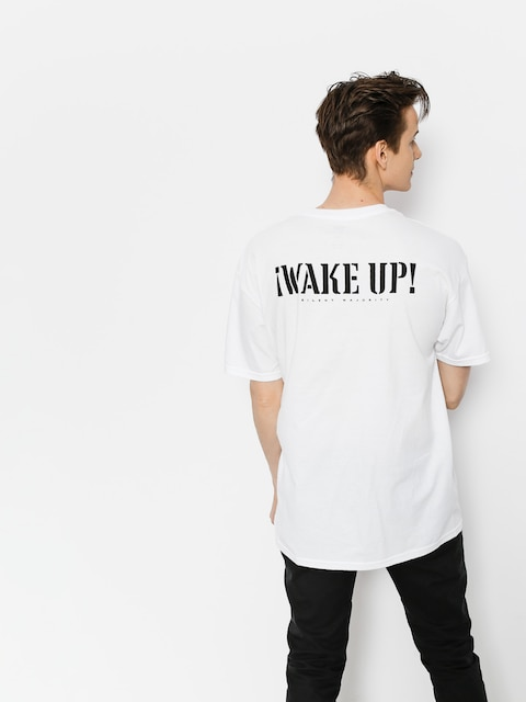 Tričko OBEY Obey Wake Up Silent Majority (wht)
