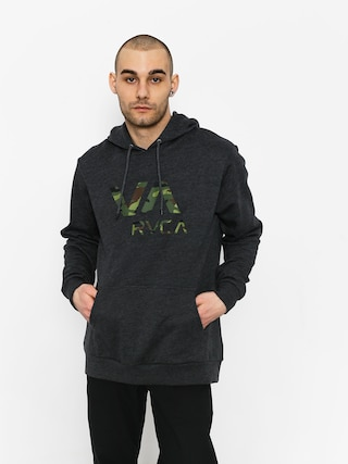 Mikina s kapucňou RVCA Va Rvca HD (charcoal heather)