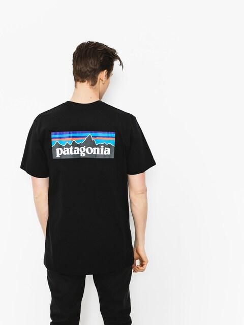 Tričko Patagonia P6 Logo Responsibili (black)