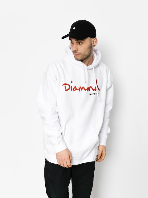 Mikina Diamond Supply Co.  Og Script (white)