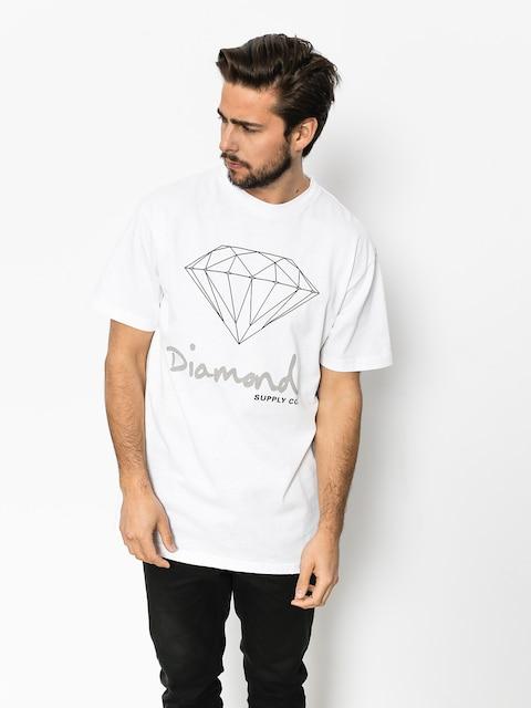 Tričko Diamond Supply Co. Og Sign (white)