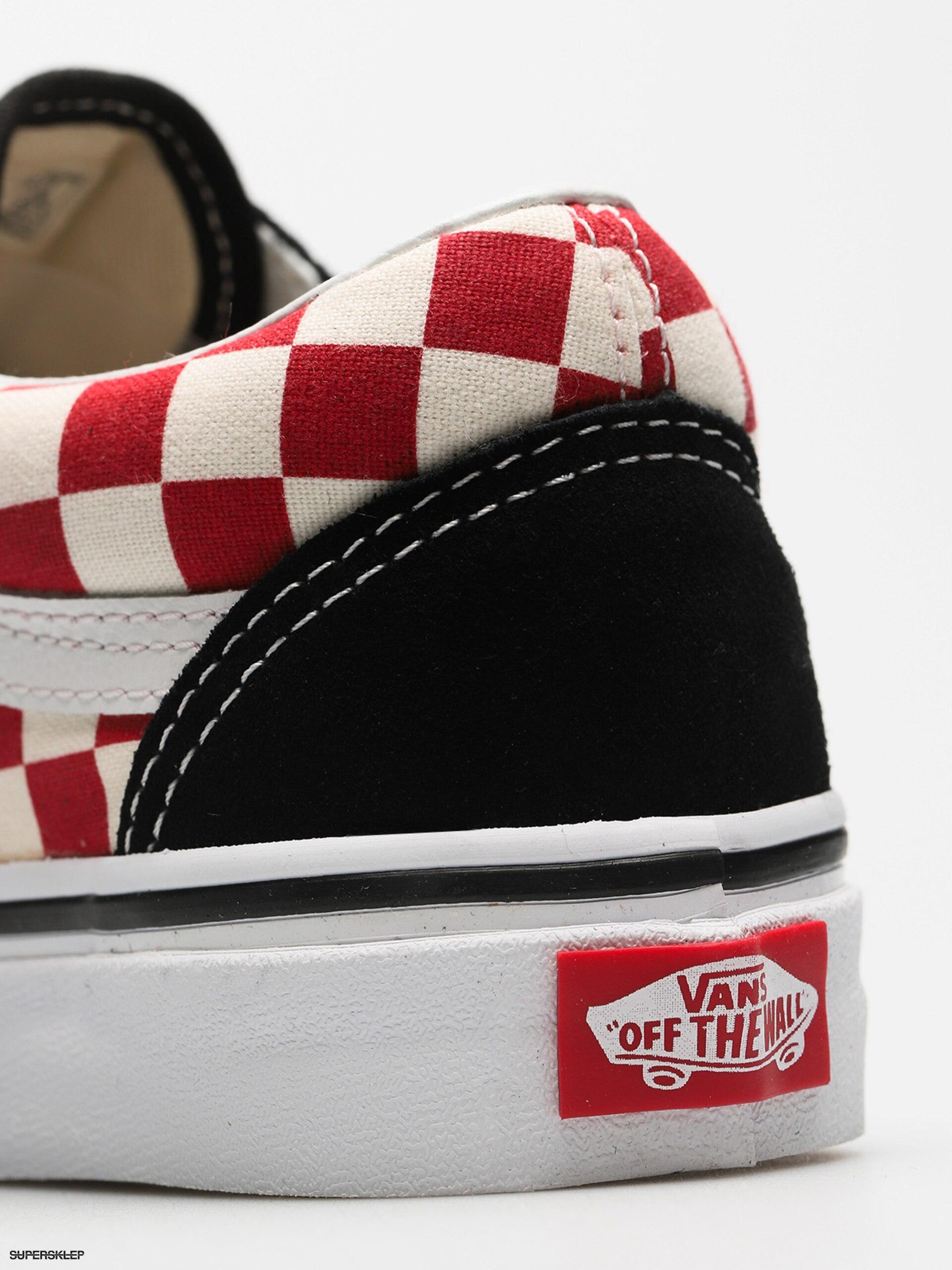 Topánky Vans Old Skool (checkerboard black red) 514d92a7d80