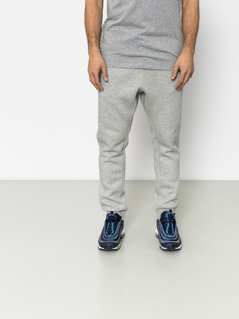 Nohavice Nike Club Jogger (dk grey heather/white)