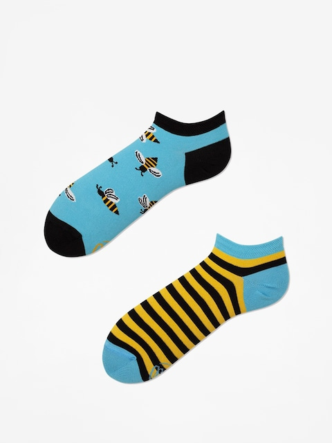 Ponožky Many Mornings Bee Bee Low (blue/yellow)