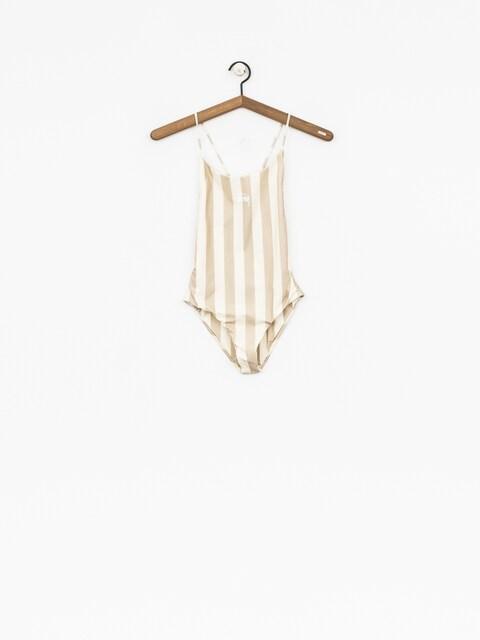Plavky Stussy Carter Stripe One Pc Swim Suit Wmn (off white)