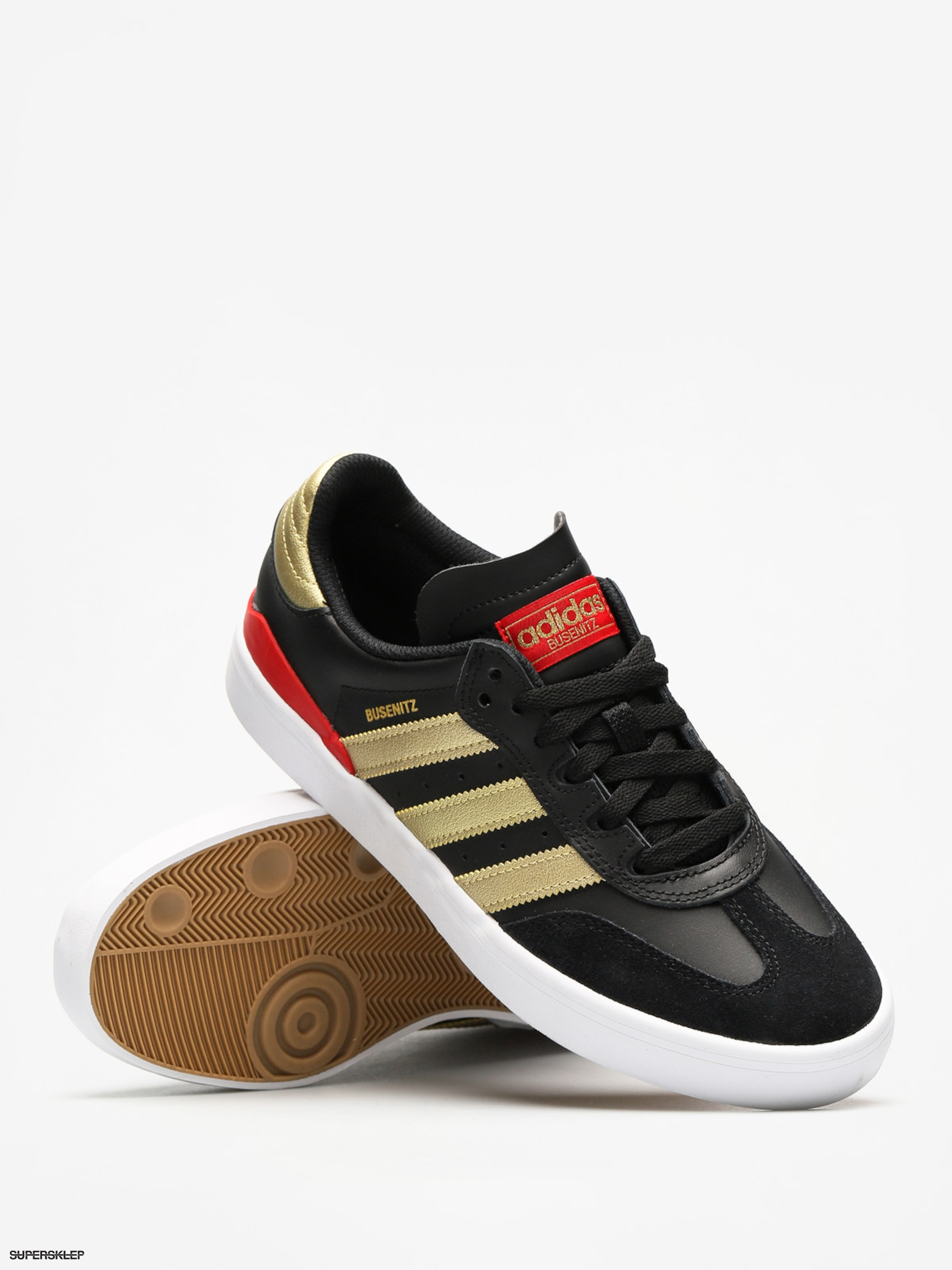 aec815570f369 Topánky Adidas Busenitz Vulc Rx (core black/gold met./scarlet)