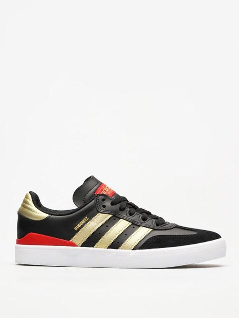 Topánky Adidas Busenitz Vulc Rx (core black/gold met./scarlet)