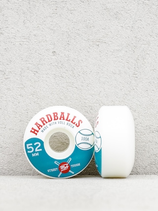 Kolieska Mob Skateboards Hardballs (white/teal)