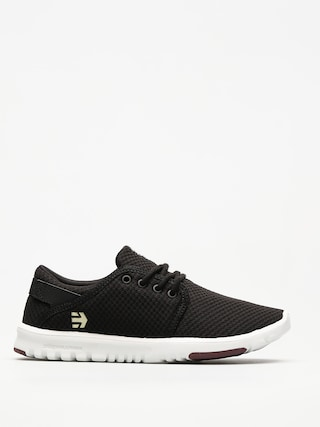 Topánky Etnies Scout Wmn (black/white/burgundy)