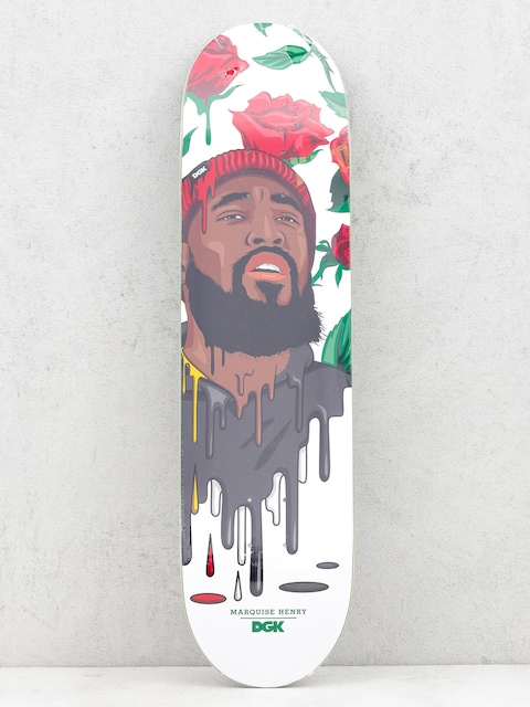 Doska DGK Quise Murked (white/red/black)