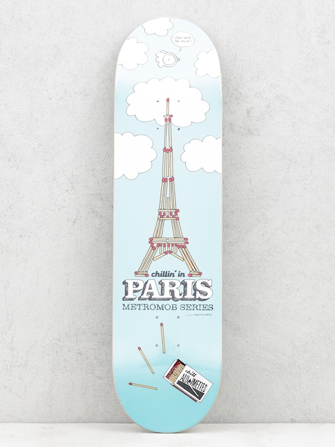 Doska Mob Skateboards Paris (blue)