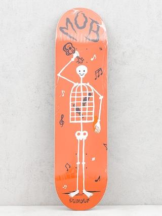Doska Mob Skateboards Skeletown (red)
