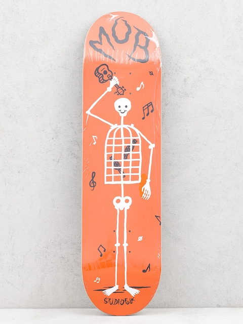Doska Mob Skateboards Skeletown (red)