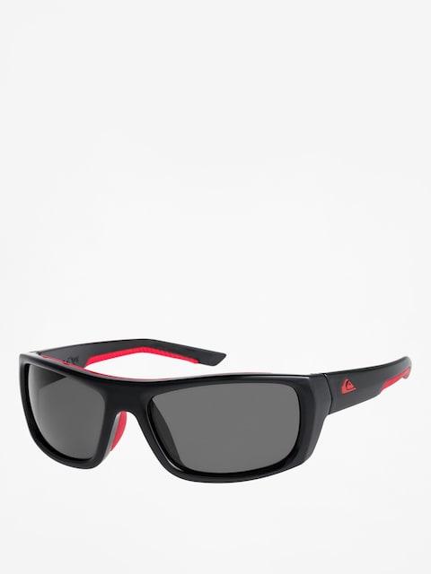 Slnečné okuliare Quiksilver Knockout (shiny black red/gre)