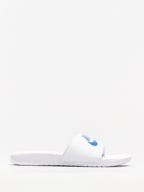Plážovky Nike Benassi Just Do It (white/varsity royal white)