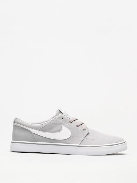 Topánky Nike SB Sb Solarsoft Portmore II Canvas (wolf grey/white black)