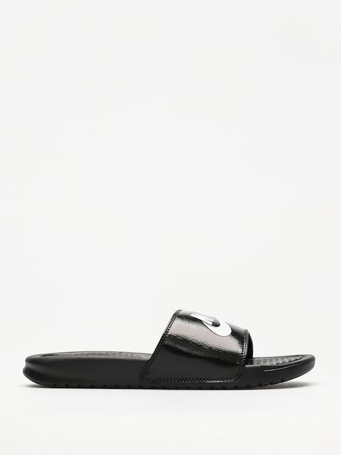 Plážovky Nike Benassi Just Do It (black/pure platinum black white)