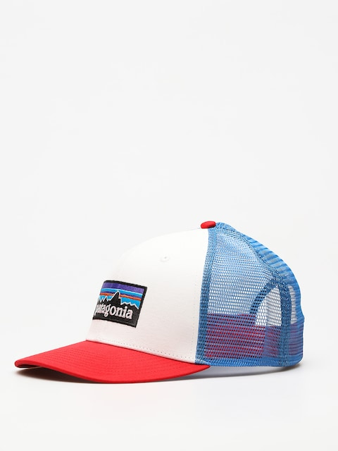 Šiltovka Patagonia P6 Logo Trucker ZD (white w/fire/andes blue)