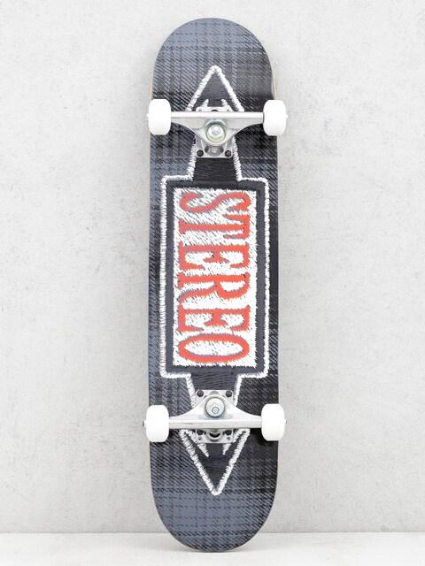 Skateboard Stereo Stiched Blue (black)