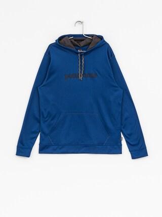Mikina s kapucňou Patagonia Text Logo PolyCycle HD (superior blue)