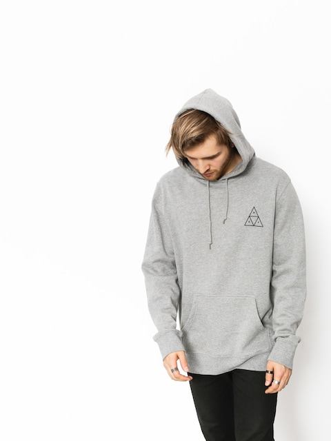 Mikina s kapucňou HUF Triple Triangle HD (grey heather)