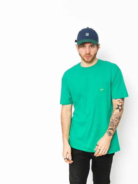 Tričko HUF Box Logo Pocket (emerald)