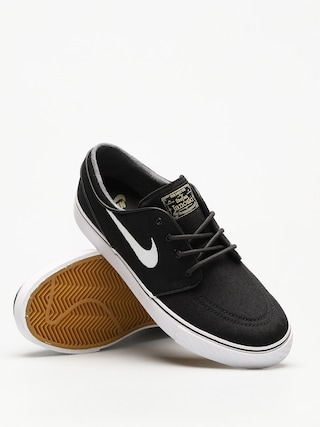 Boty Nike Zoom Stefan Janoski CNVS (blk/white gm lght brwn mtlc gl)