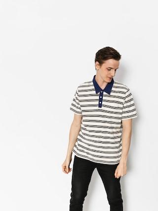 Tričko Polo Brixton Murph (cream/navy)