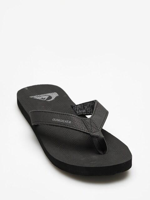 Plážovky Quiksilver Molokai Laser Grip (solid black)