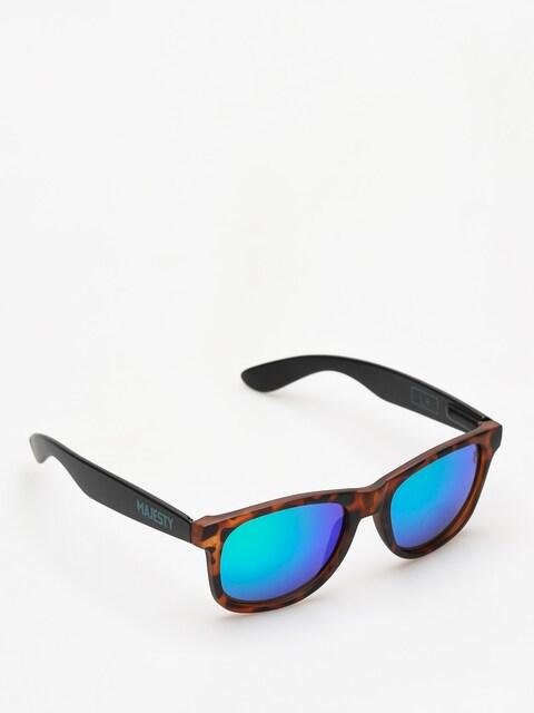 Slnečné okuliare Majesty Shades L (tortoise/black green mirror lens)