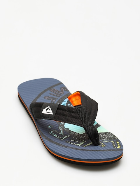 Plážovky Quiksilver Molokai Layback (black/orange/green)