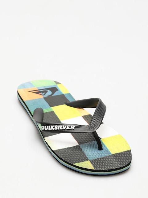 Plážovky Quiksilver Molokai Resin Check (black/blue/green)