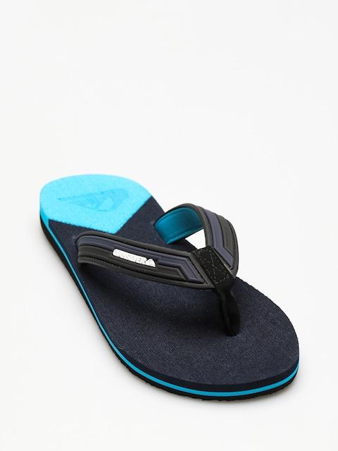 Plážovky Quiksilver Molokai New Wav (black/blue/blue)