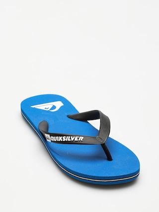 u017dabky Quiksilver Molokai (black/blue/black)