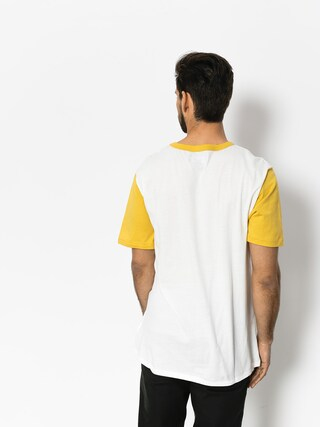 Tričko Brixton Stith Henley (off white/washed yellow)