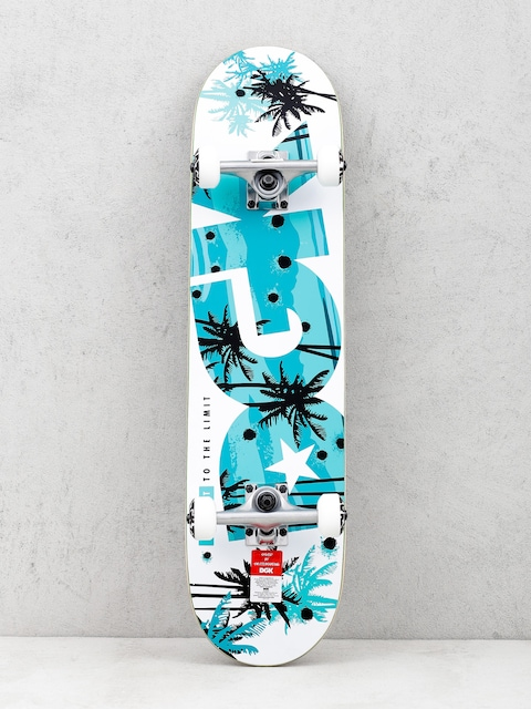 Skateboard DGK Push It (white/teal)