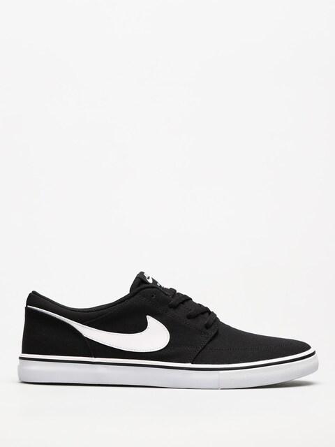 Topánky Nike SB Sb Solarsoft Portmore II Canvas (black/white)