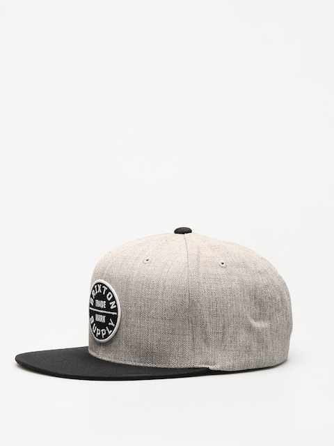 Šiltovka Brixton Oath III Snap (heather grey/black)