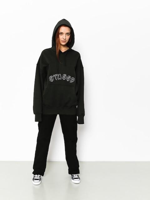 Mikina s kapucňou Stussy Lennox Oversized HD Wmn (black)