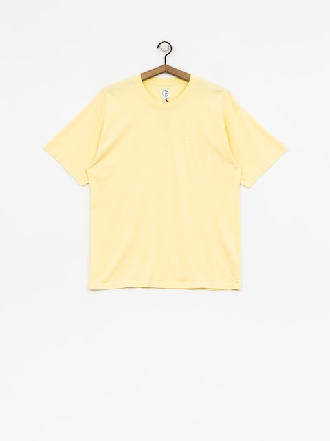 Tričko Polar Skate Happy Sad Garment Dyed (light yellow)