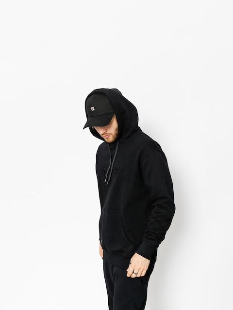 Mikina s kapucňou Nervous Lace HD (black)