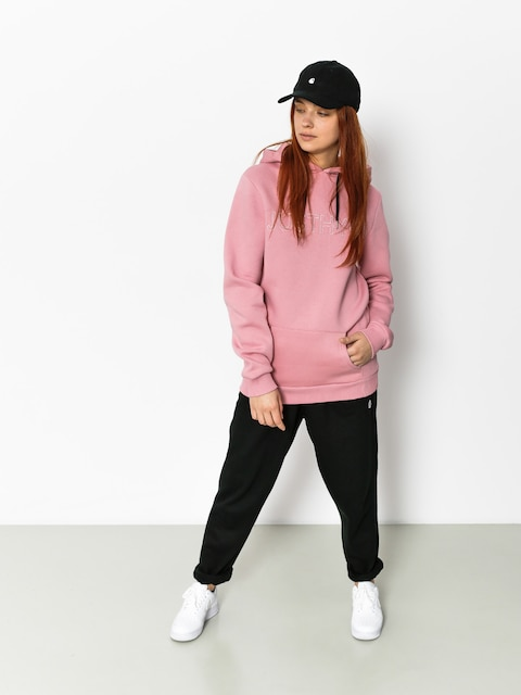 Mikina s kapucňou Hype Embroidered HD Wmn (pink/pink)