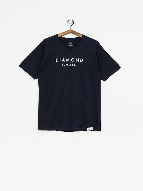 Tričko Diamond Supply Co. Stone Cut (navy)