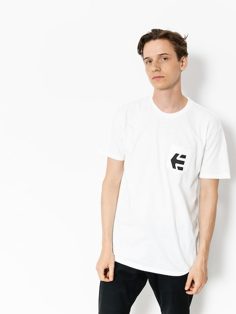 Tričko Etnies Icon Pocket (white)