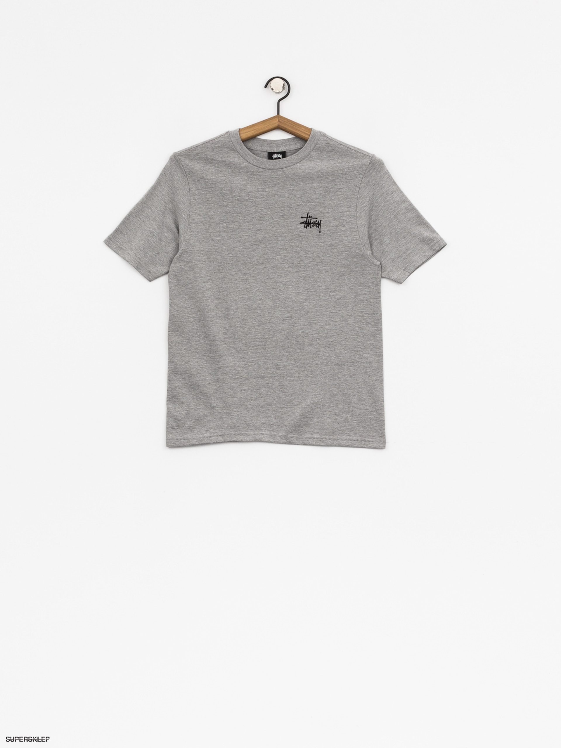 Tričko Stussy Basic Wmn (grey heather)