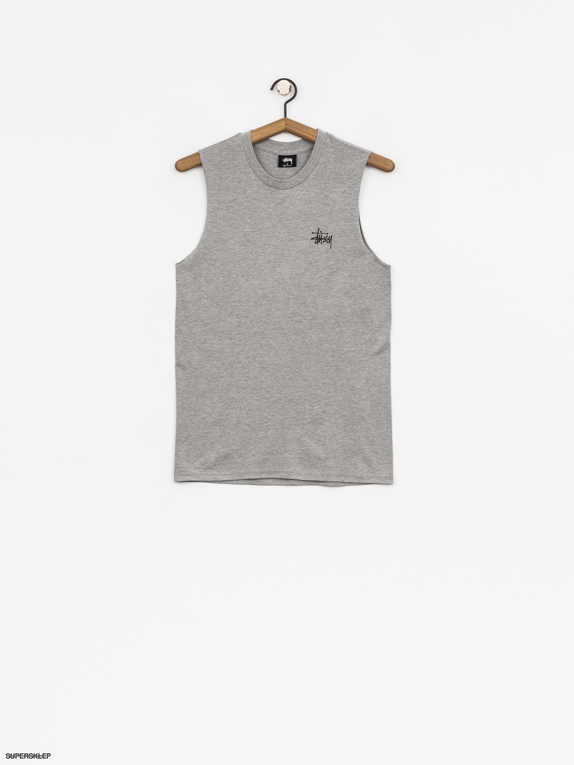Tričko Stussy Basic Raw Muscle Wmn (grey heather)
