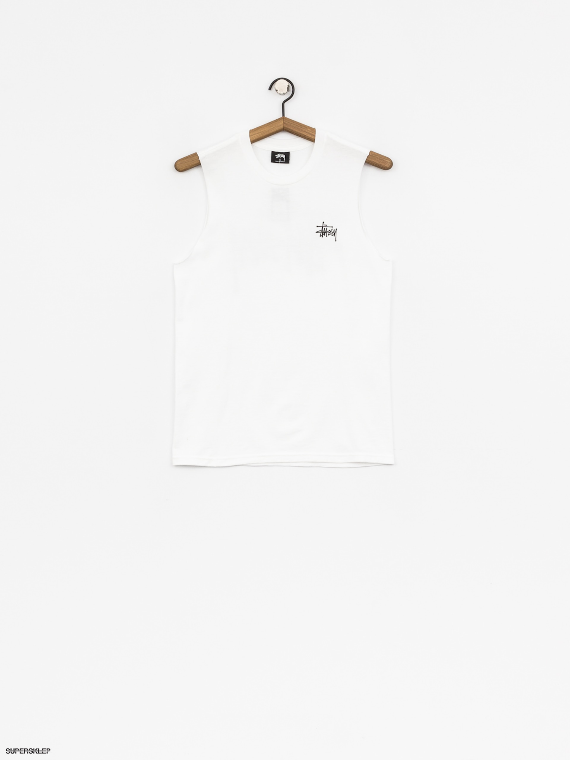 Tričko Stussy Basic Raw Muscle Wmn (white)