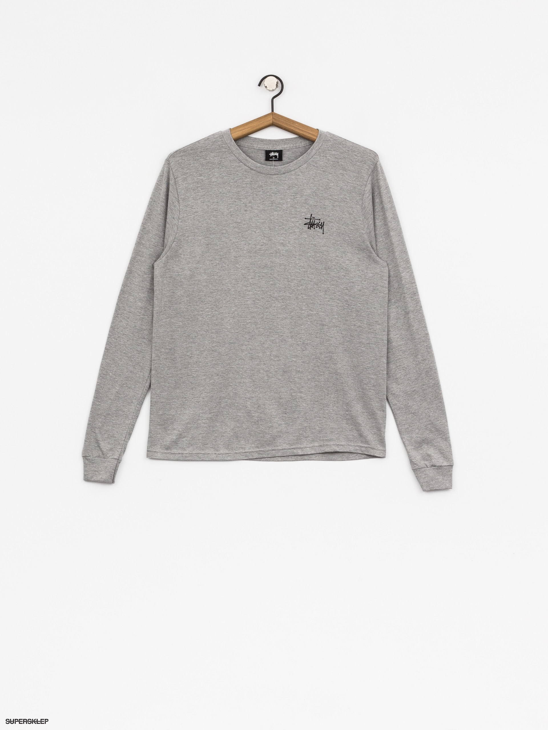 Triko Stussy Basic Wmn (grey heather)
